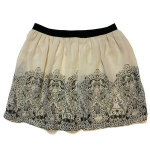 American Eagle Outfitters l Cream and black skirt
